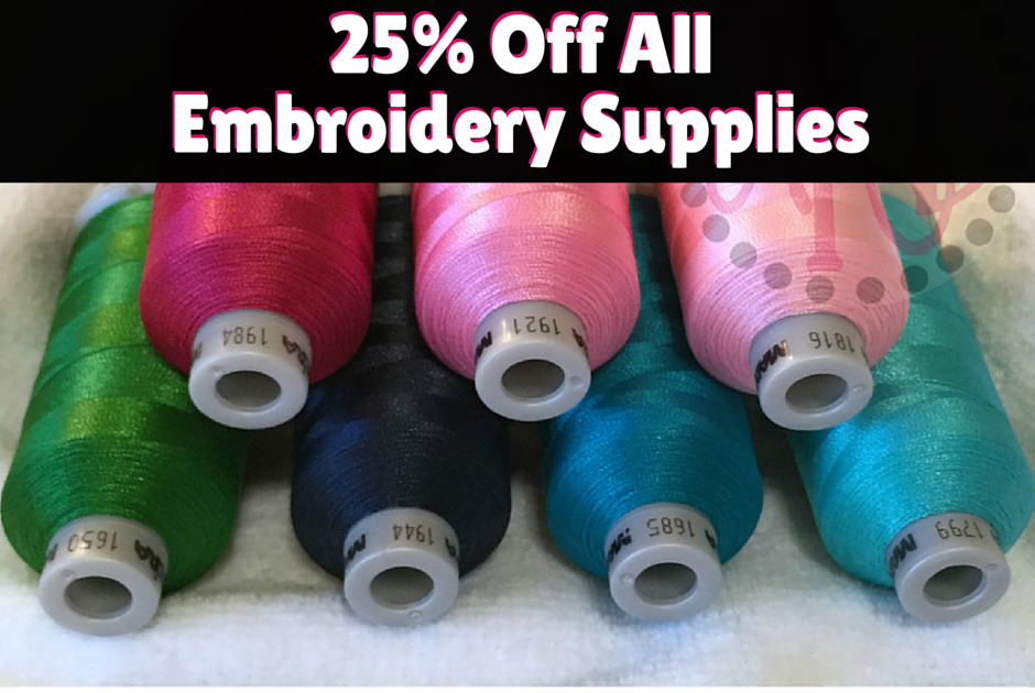 AKDesigns Boutique Machine Embroidery Designs 25% Off ALL Embroidery SUPPLIES!!
