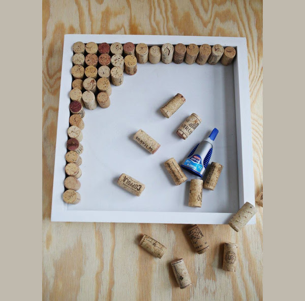 dIY πίνακας ανακοινώσεων από φελλούς κρασιών 2