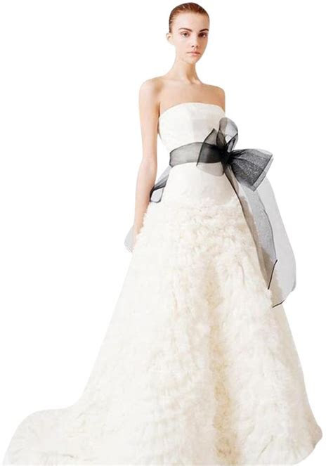 Vera Wang Off white Ivory Organza Tulle Eleanor   Gown
