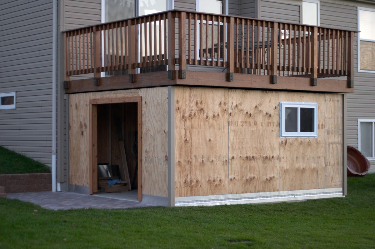 How To Build Storage Shed Under Deck Lawn Shed Plans
