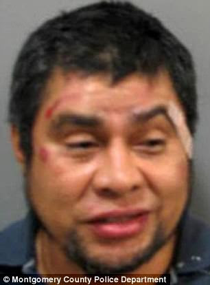 Salvador Gomez-Lopez, 46, of Montgomery County, is accused of slashing a bystander at a bus stop after they asked him to stop urinating in public