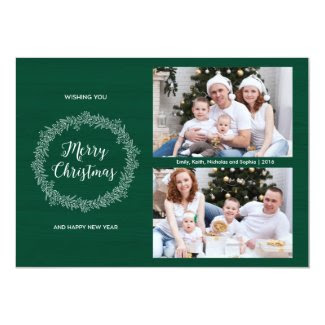 Christmas Wreath Holiday Photo Card