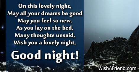 On This Lovely Night May All Your Good Night Greetings