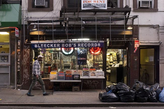 New York Portraits Outside Bleecker Bob S Records In The