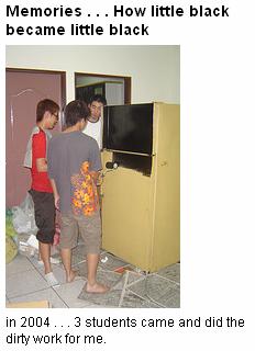 painting the fridge (2004)