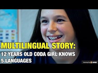 Niña oyente de 12 años hija de familia sorda que domina cinco idiomas