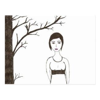 Jane Austen's rice Portrait Postcard