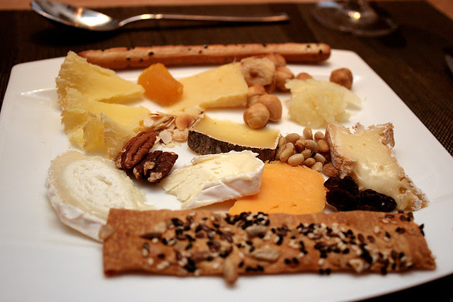 My cheese platter. Yes, I tried everything! Favourite is the Coulommier from Seine-et-Marne