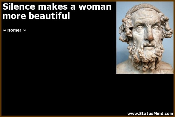 Silence Makes A Woman More Beautiful Statusmindcom