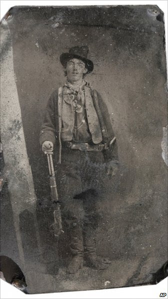 Tintype of Billy the Kid, which sold for $2.3m at auction in Denver, Colorado, on Saturday