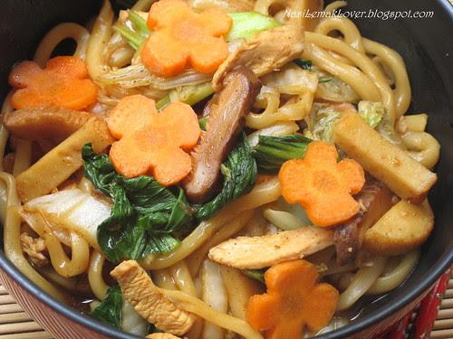 Stir fried black pepper Udon noodles