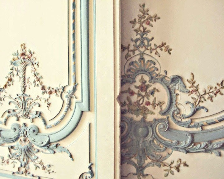 Pastel Marie Antoinette Doors at Versailles, 8x10 Fine Art Photo Print, Ivory, Faded, Pale, Ornate, French Nursery, Gender Neutral Decor - gypsyfables
