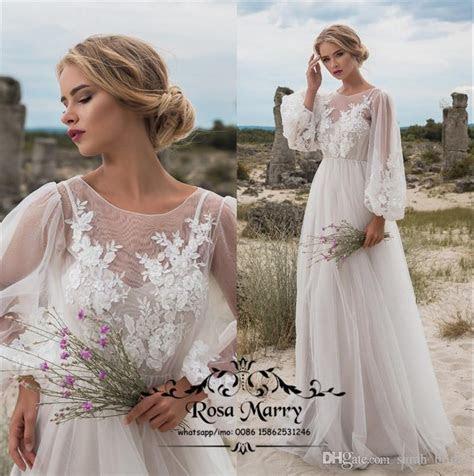 Discount Plus Size Boho Beach Country Wedding Dresses 2020