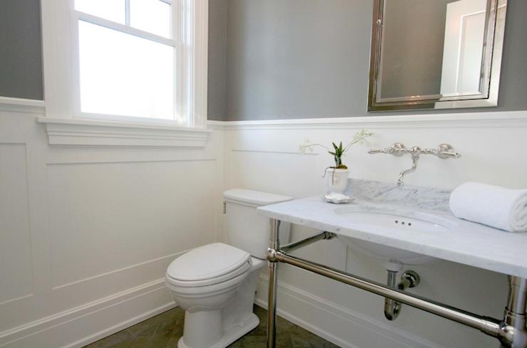Marble Top Bathroom Vanity - Transitional - bathroom - Milton ...