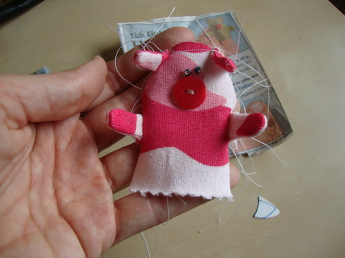 finger puppet pig in progress