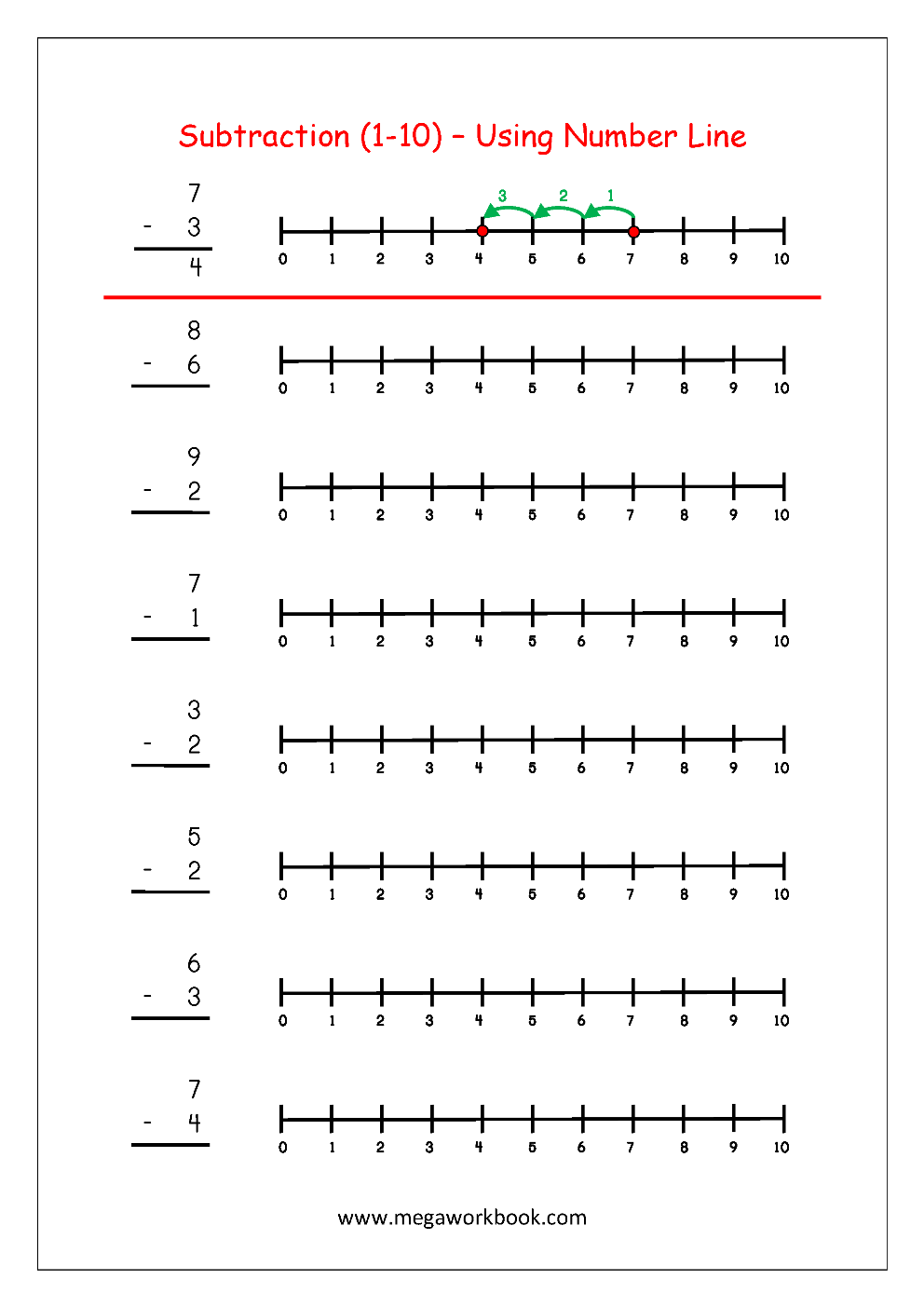 Subtraction_1_to_10_Using_Number_Line_Worksheet_05