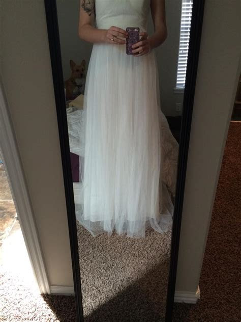 My wedding dress got altered and is now too short.