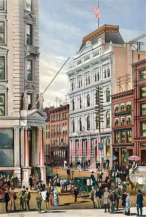 The New York Stock Exchange in 1882 by America...
