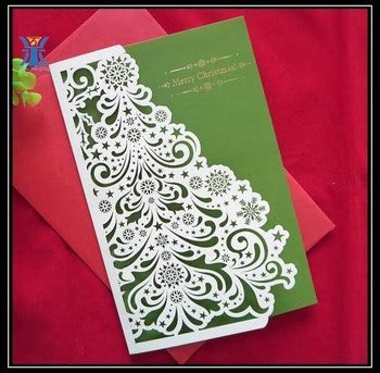 Beautiful Die cut Paper Christmas Cards Hot Sale Creative