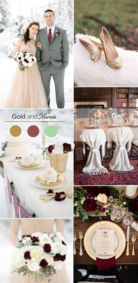 5 Gold Wedding Color Ideas for Winter Weddings 2015