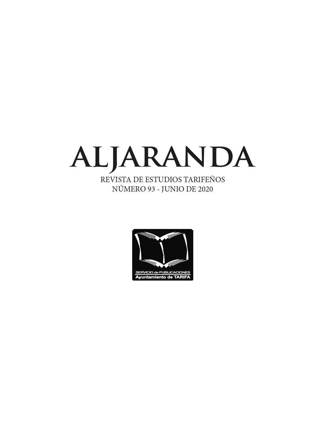 Imagen de portada de la revista Aljaranda
