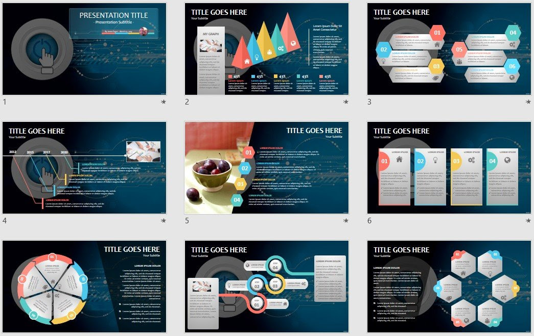 Powerpoint Free Com Free Powerpoint Templates Technology Powerpoint Template 21300