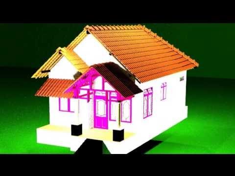 inilah animasi rumah sederhana, video animasi rumah