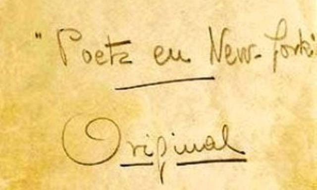 Extracto de la portada original del manuscrito.