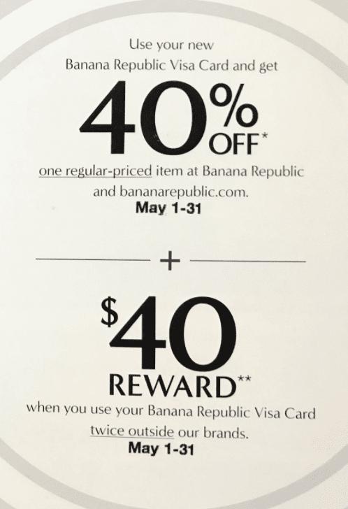 Gap Credit Cards Promotion: $40 Rewards (Targeted)