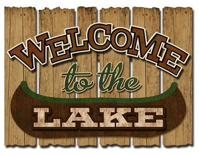 D rustic welcome Rustic To  Wood  Lake signs 3 Fun Decor  Pinterest The  Sign  Welcome