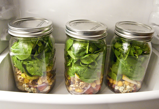 salad in a jar-in my fridge