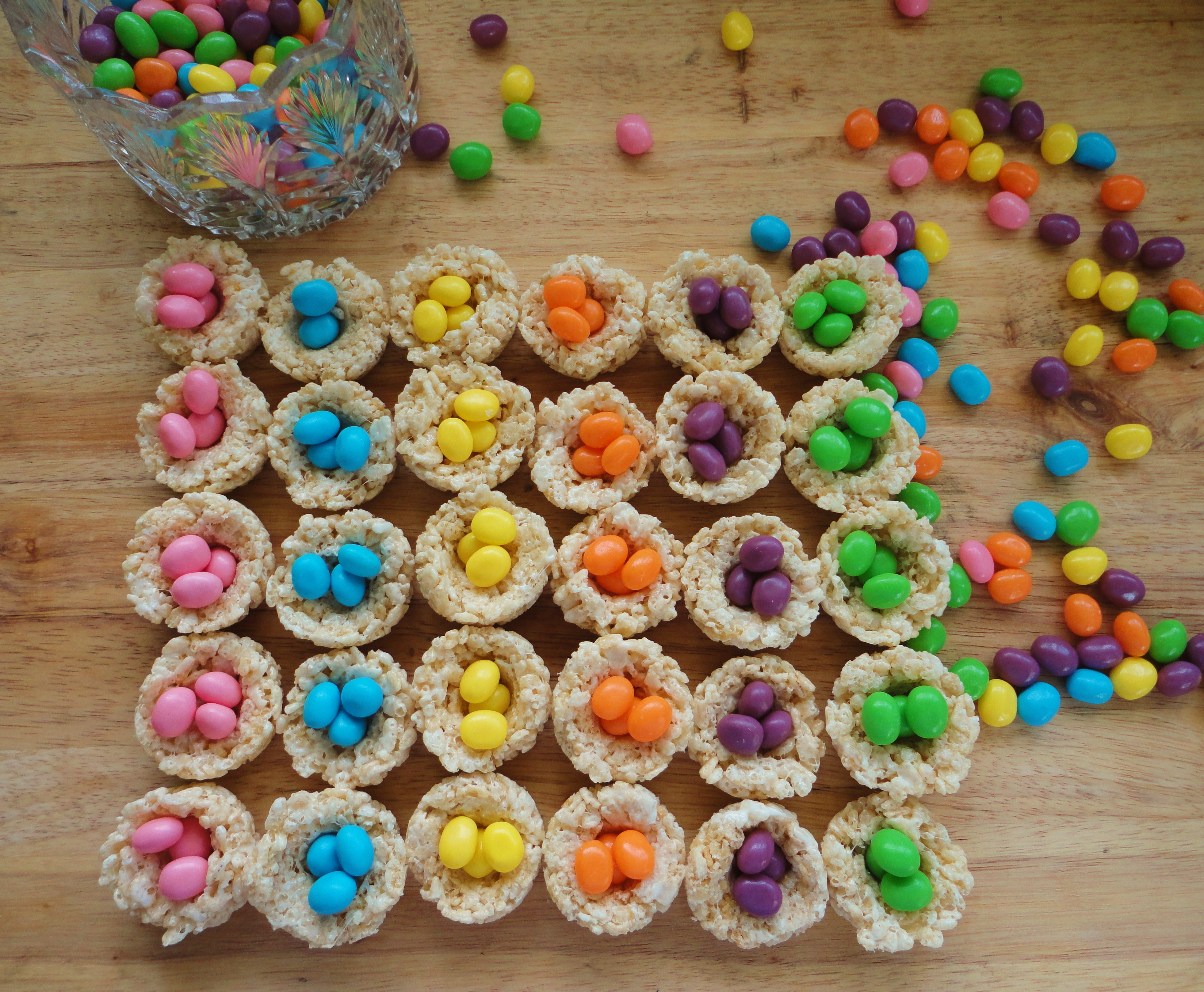 Easter Egg Rice Krispy Nests - Delicious Fun for the ...