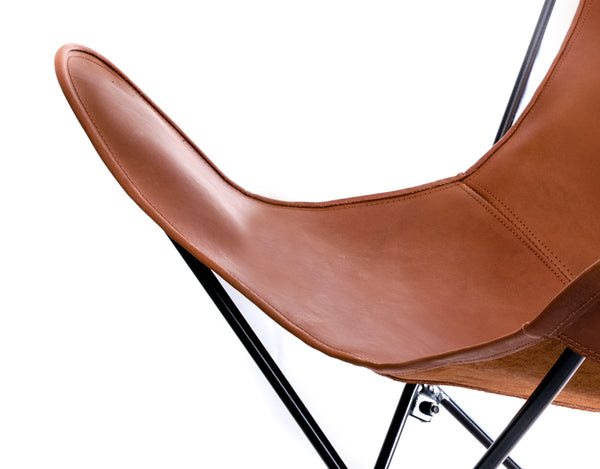 Butterfly Hardoy Leather Chair Brown Vaqueta Caramel Sevensmith