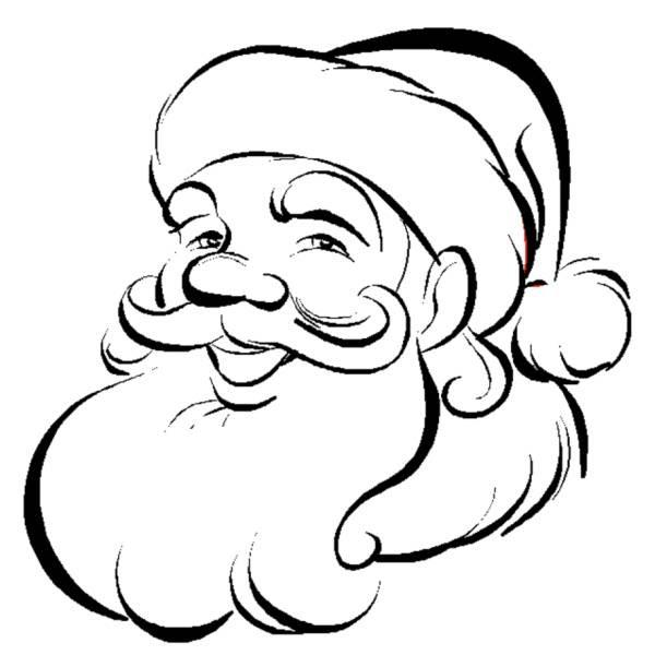 Disegno Di Viso Di Babbo Natale Da Colorare Per Bambini