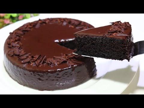 كيكة الشوكولاتة ب 3 مكونات فقط بدون دقيق وبدون بيض وبدون زيت وبدون سكر قمة في الروعة