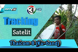 Tracking satelit Thaicom 8 (ku-band)