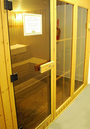 The Sauna by the Indoor Pool