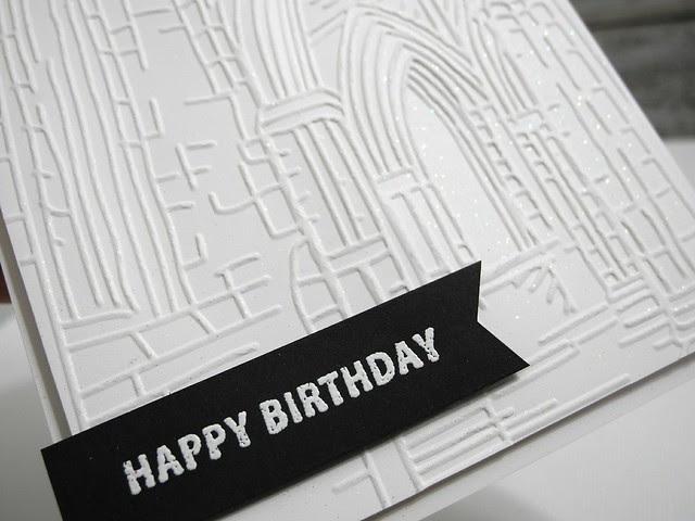 Architectural Birthday (glitter details)