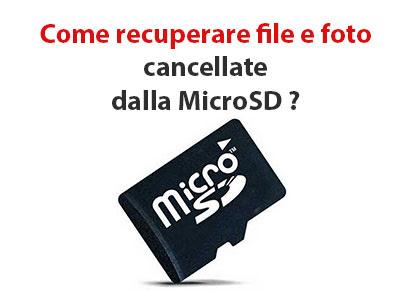 Come Recuperare File E Foto Cancellate Dalla Micro Sd