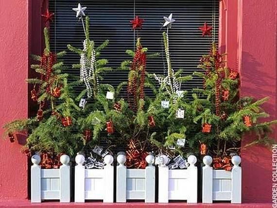 Christmas Window Box Decorating Ideas Elitflat