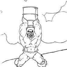 Dibujos Para Colorear Hulk Lanza Un Baril Eshellokidscom