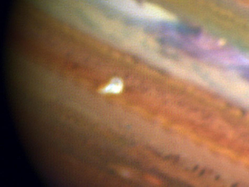 A false-color composite image of Jupiter and its South Equatorial Belt