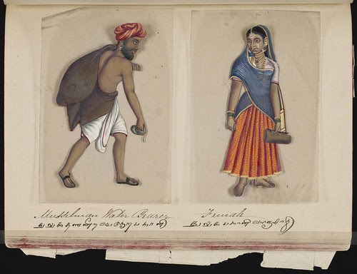 Mussilman water bearer - Female, Madura, 1837