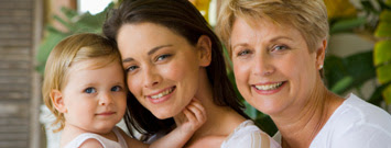 Photo: Woman with young daughter and mother