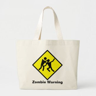 Zombie Warning Road Sign bag