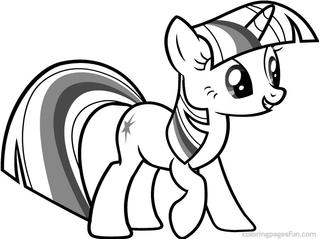 Twilight My Little Pony Coloring Pages At Getdrawingscom Free For