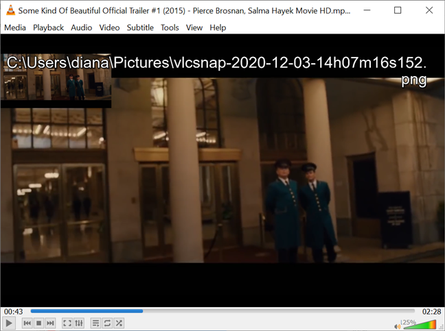 Verifique su pantalla para ver dónde almacena VLC las instantáneas
