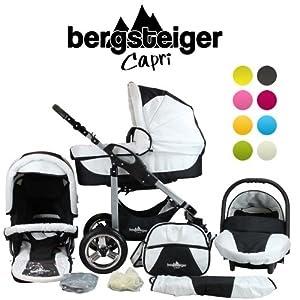kinderwagen bergsteiger capri kombikinderwagen 3 in 1. Black Bedroom Furniture Sets. Home Design Ideas