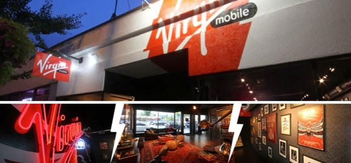 Lojas da Virgin Mobile em Chicago (Foto: Divulgação/Virgin Mobile)