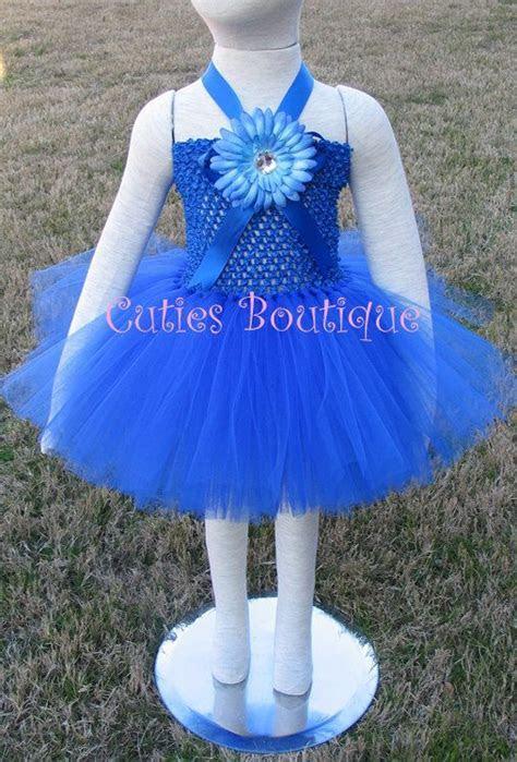 Royal Blue Flower Dress Baby Infant Toddler Tutu Dress